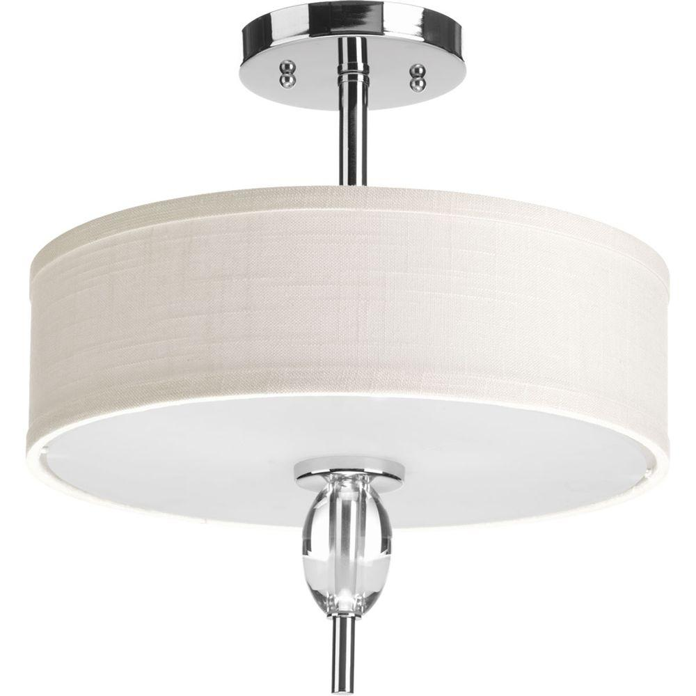 Progress Lighting Status Collection 2-Light Polished Chrome Semi-Flush Mount