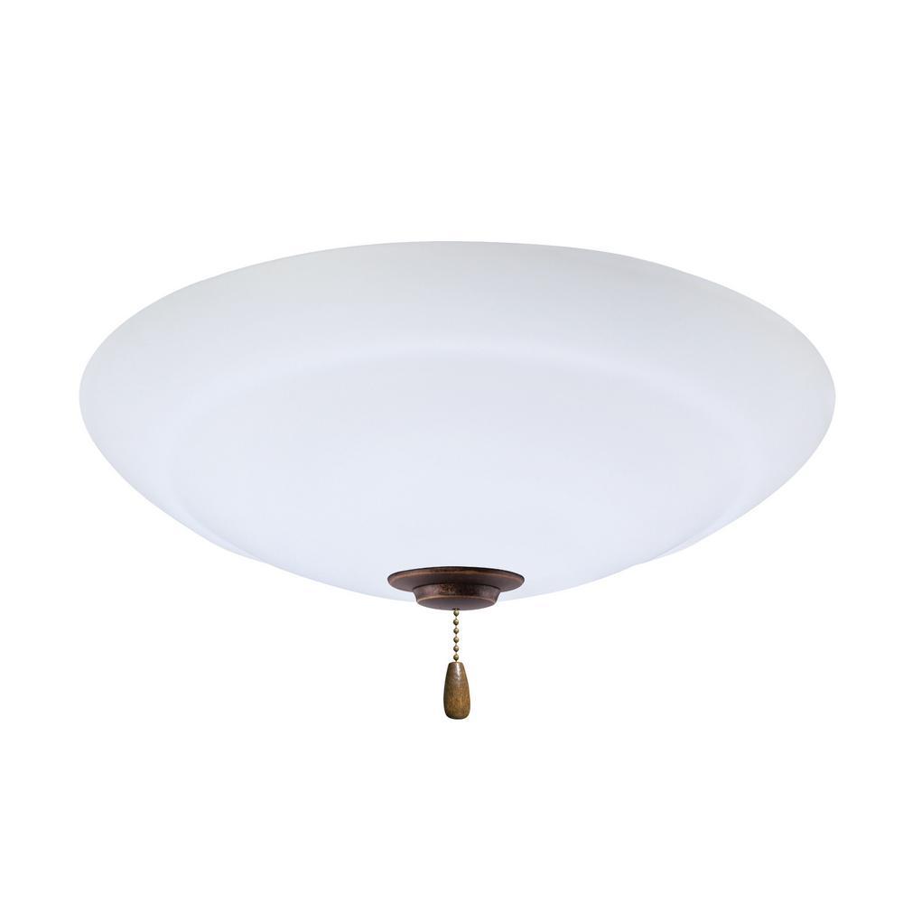 Emerson Riley LED Array Gilded Bronze Ceiling Fan Light ...