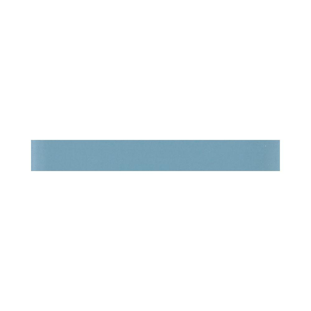 Daltile Glass Reflections 1 in. x 6 in. Blue Lagoon Glass Wall Tile-DISCONTINUED