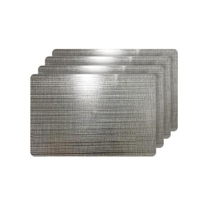 Emery Gray Metallic Reversible Rectangular Placemats (Set of 4)