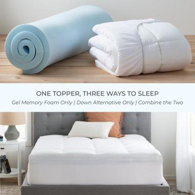4 in. Pillow Top and Gel Memory Foam Mattress Topper