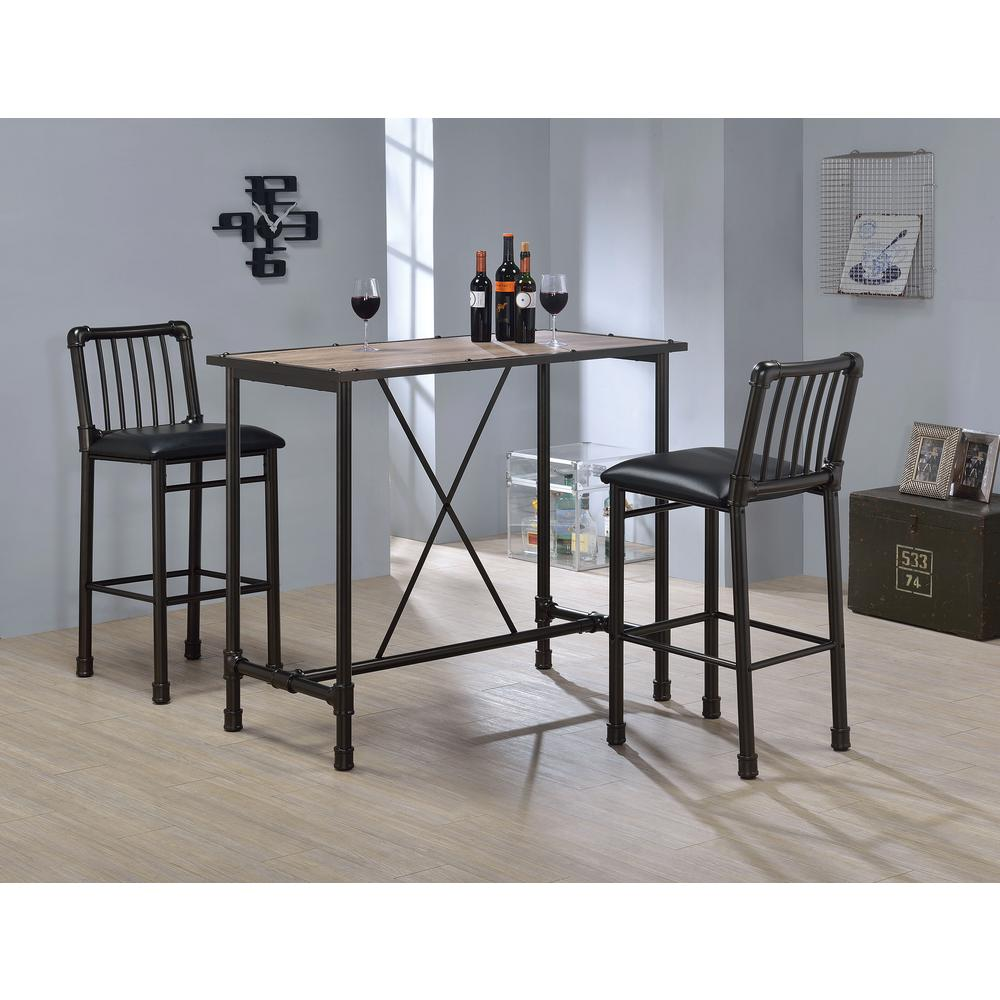 Excellent Acme Furniture Caitlin 29 In Black Cushioned Bar Stool Set Pabps2019 Chair Design Images Pabps2019Com