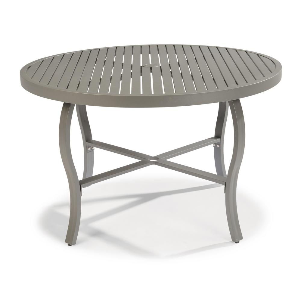 Round To Oval Outdoor Dining Table
