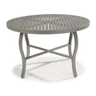 Daytona Charcoal Gray Round Aluminum Outdoor Dining Table