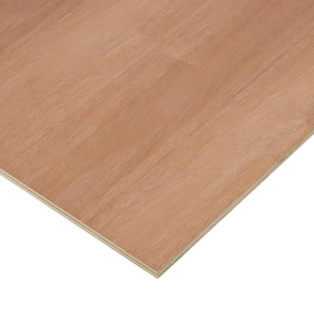 Columbia Forest Products 1 2 In X 2 Ft X 8 Ft Purebond Mahogany Plywood Project Panel Free Custom Cut Available 2366 The Home Depot