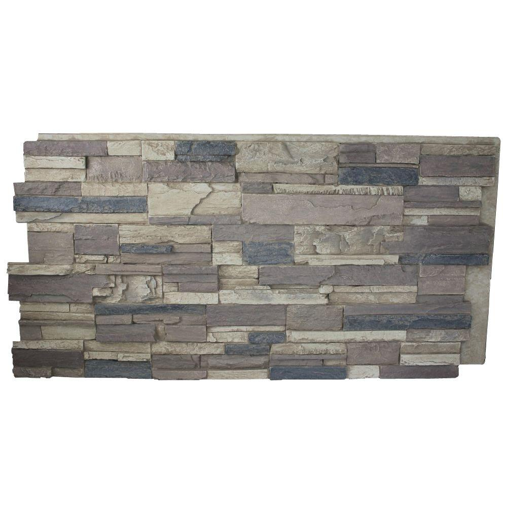 Superior Building Supplies Rustic Lodge 24 In X 48 In X 1 1 4 In Faux Tennessee Stack Stone