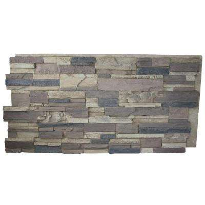 Rustic Lodge 24 in. x 48 in. x 1-1/4 in. Faux Tennessee Stack Stone Panel