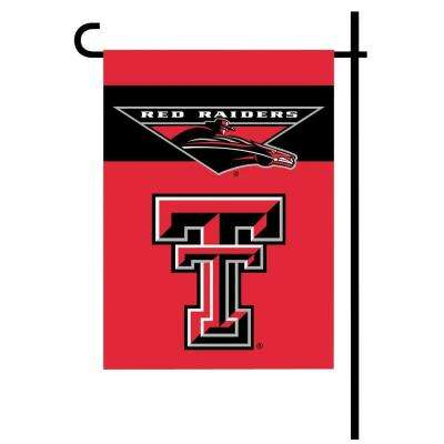 NCAA 13 in. x 18 in. Texas Tech 2-Sided Garden Flag Set with 4 ft. Metal Flag Stand