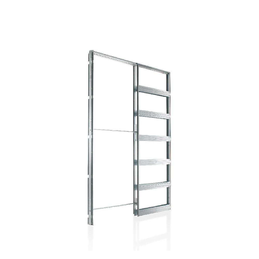 Eclisse 32 in. x 80 in. Steel Single Pocket Door Frame