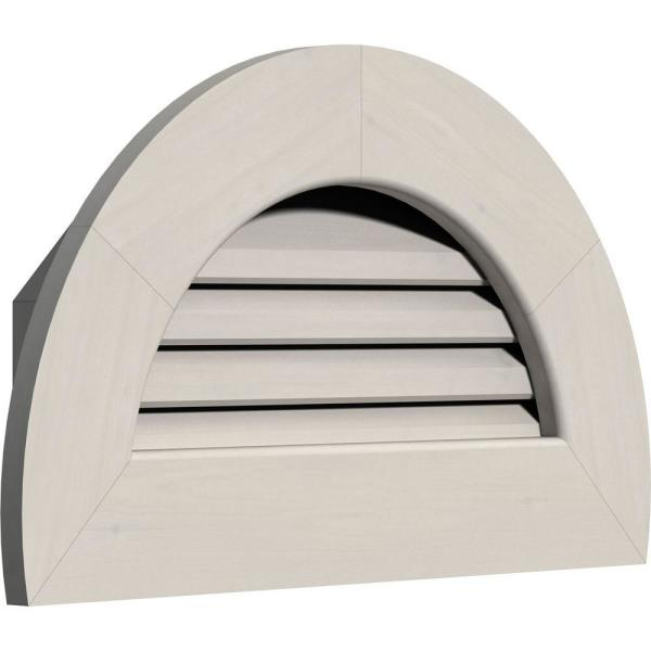 Ekena Millwork 29 In X 17 In Half Round Primed Smooth Western Red Cedar Wood Paintable Gable Louver Vent Gvwhr24x1200sfpwr The Home Depot