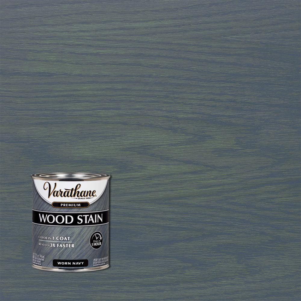 1 qt. Worn Navy Premium Fast Dry Interior Wood Stain
