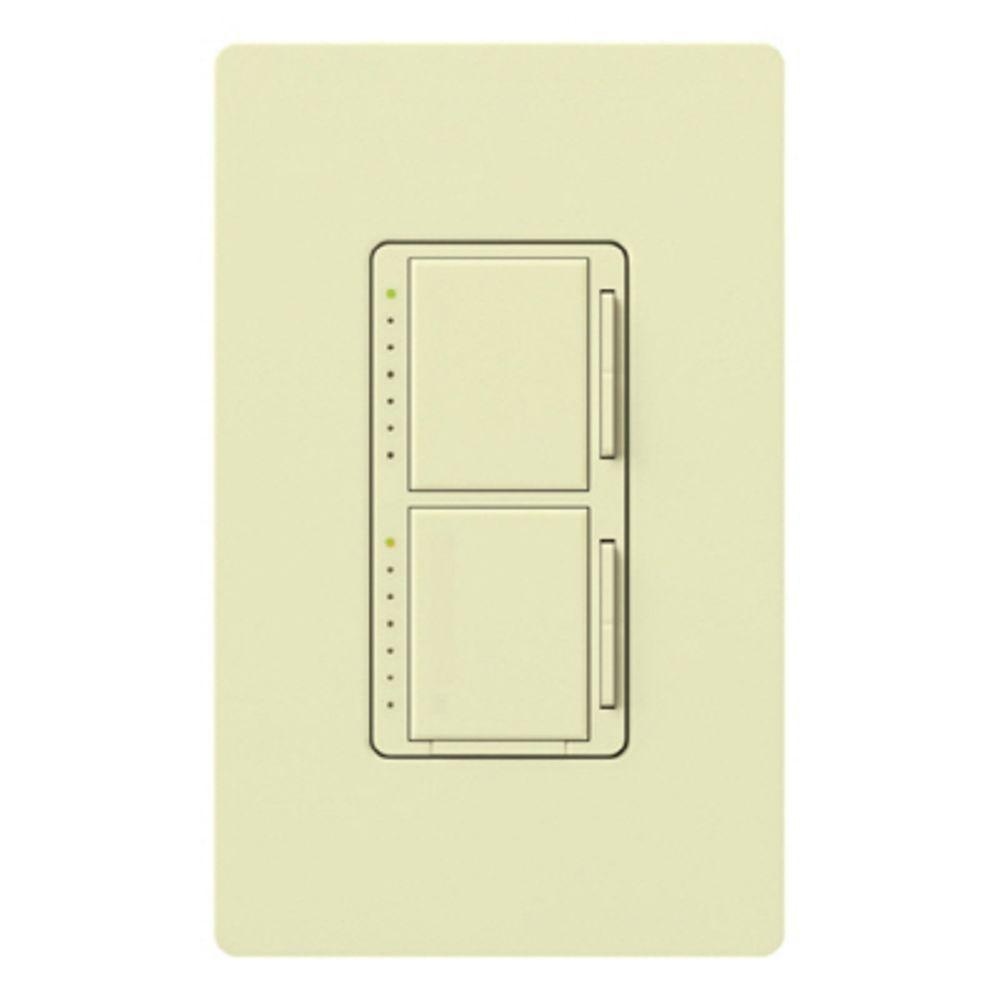 Lutron maestro 300 watt single pole dual digital dimmer for Lutron dimmers