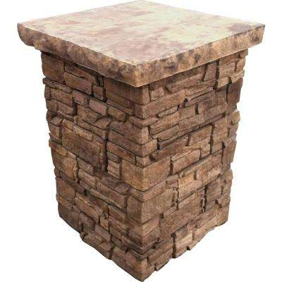 39 in. Telluride Stacked Stone Column Kit