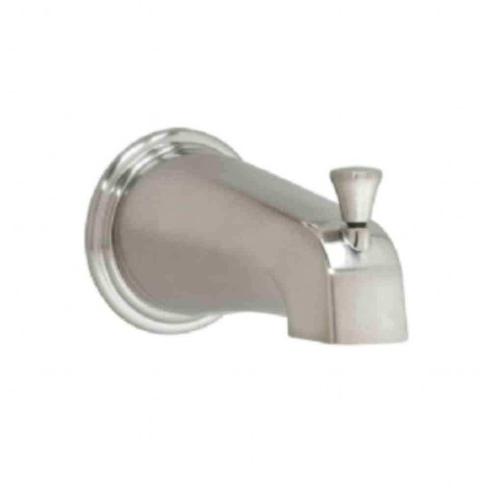 Portsmouth Slip-On Diverter Tub Spout in Brushed Nickel