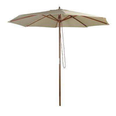 9 ft. Market Patio Umbrella in Natural