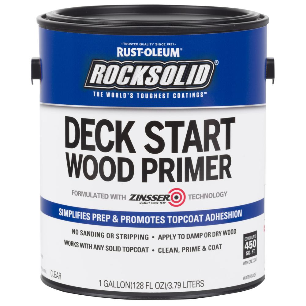 Rust-Oleum RockSolid 1 gal  Deck Start Exterior Wood Primer Clear