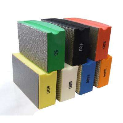 Diamond Hand Polishing Pads Block Type (7-Set)