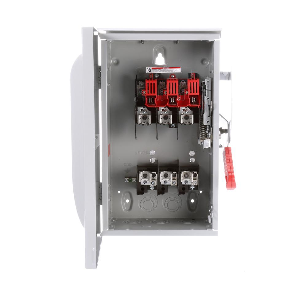 Siemens 60 Amp 3-Pole 3-Wire Negative Ground Heavy Duty Switch Non ...