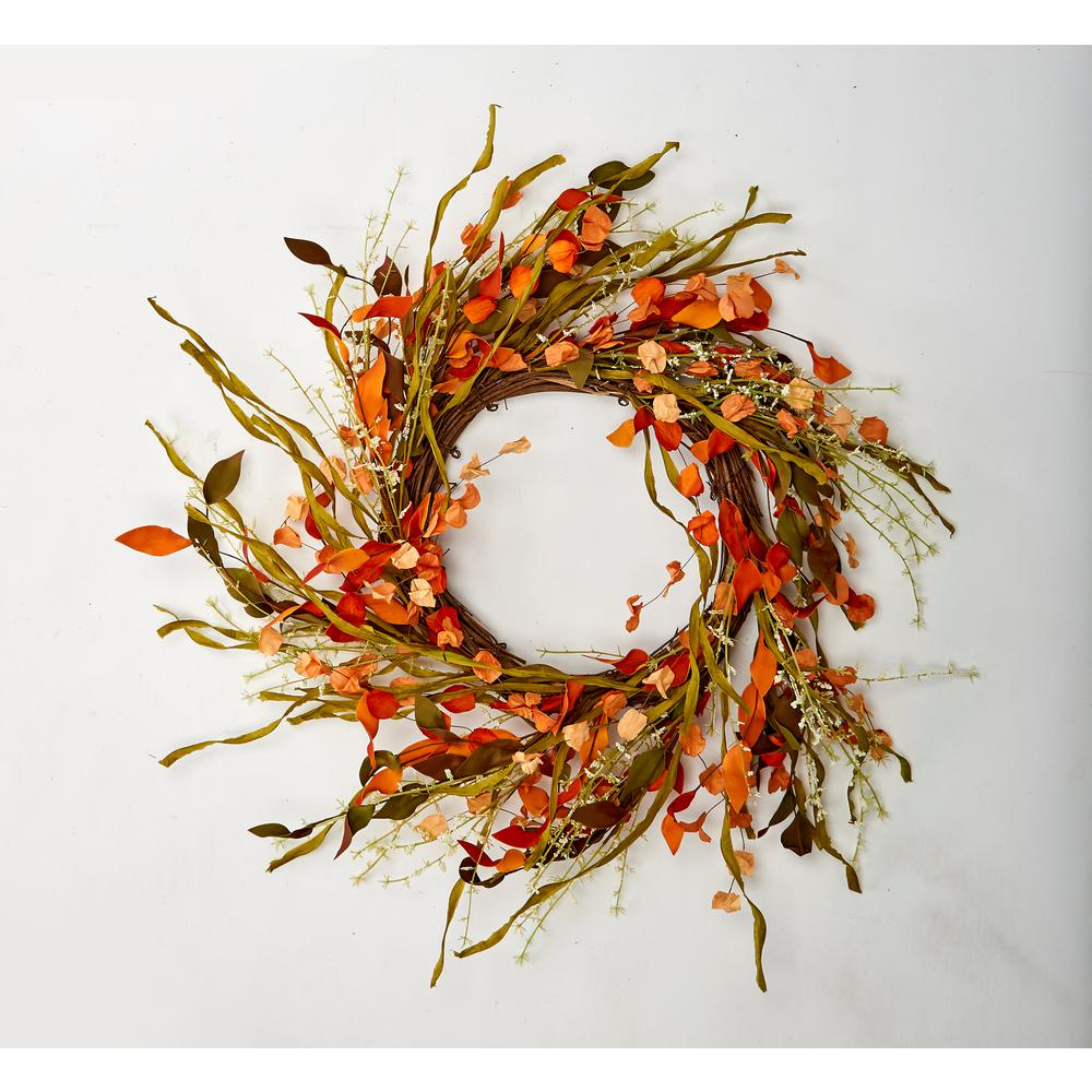 Worth Imports 18 In Fall Wreath With Seed Pods And Grasses 7926