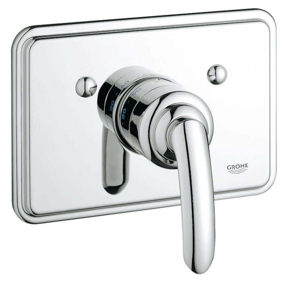 GROHE Talia Single Handle Thermostat Valve Trim Kit in StarLight Chrome (Valve Sold Separately)