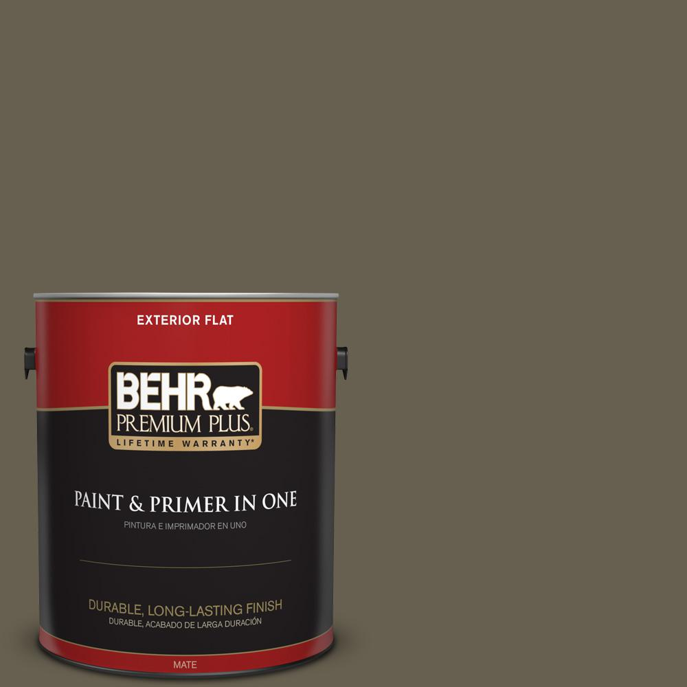 1 gal. #PPU8-25 Ivy Topiary Flat Exterior Paint