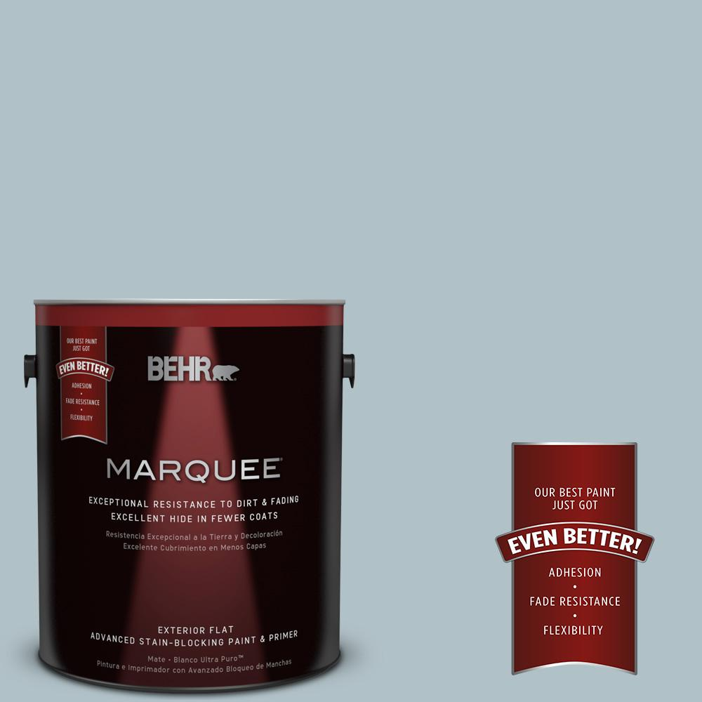 BEHR MARQUEE 1-gal. #PPU13-14 Ozone Flat Exterior Paint