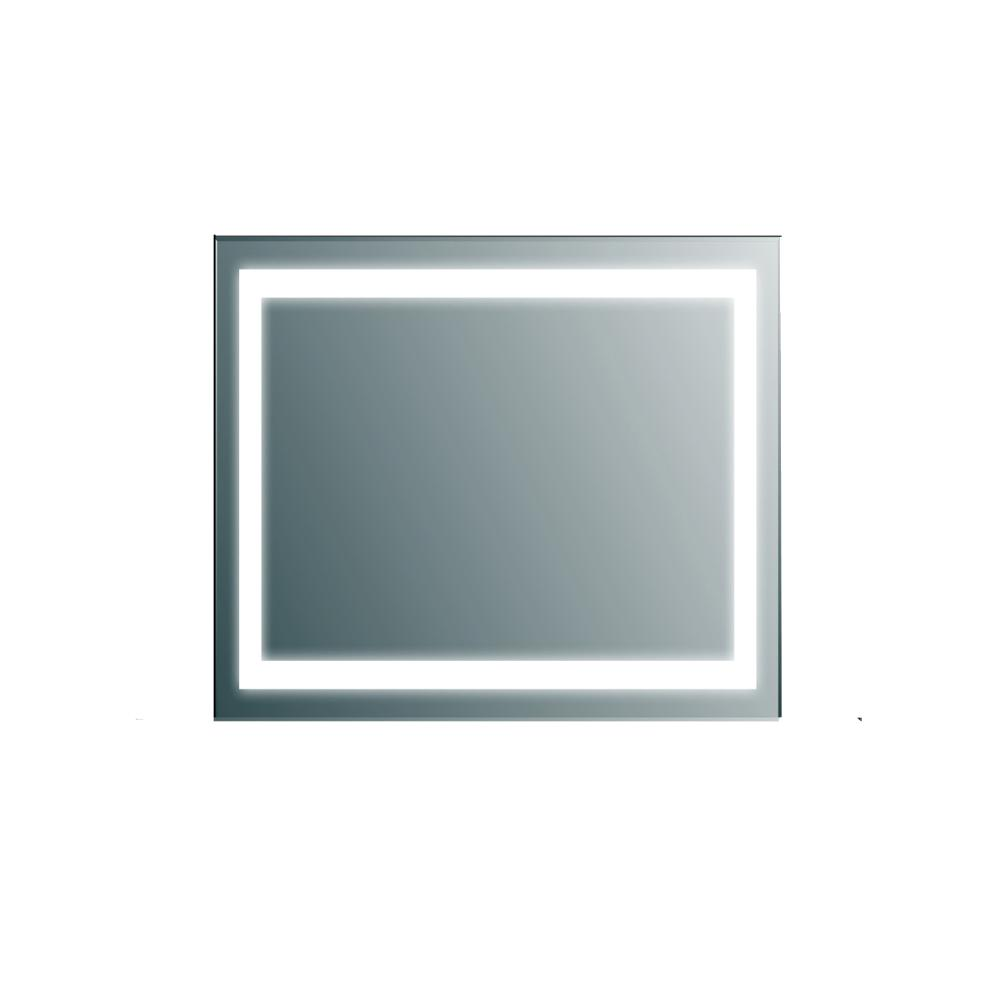 Eviva Lite 30 in. W x 30 in. H LED Wall Mounted Vanity Bathroom LED Mirror in Aluminum