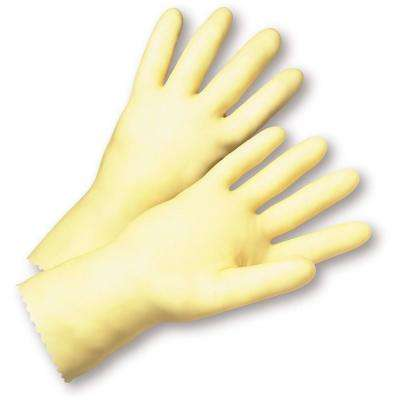 Size 9 Premium Amber-Latex Unlined Dozen Pair Gloves
