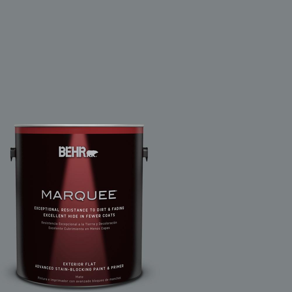 Behr Marquee 1 Gal Ppu26 03 Legendary Gray Matte Exterior Paint 445401 The Home Depot