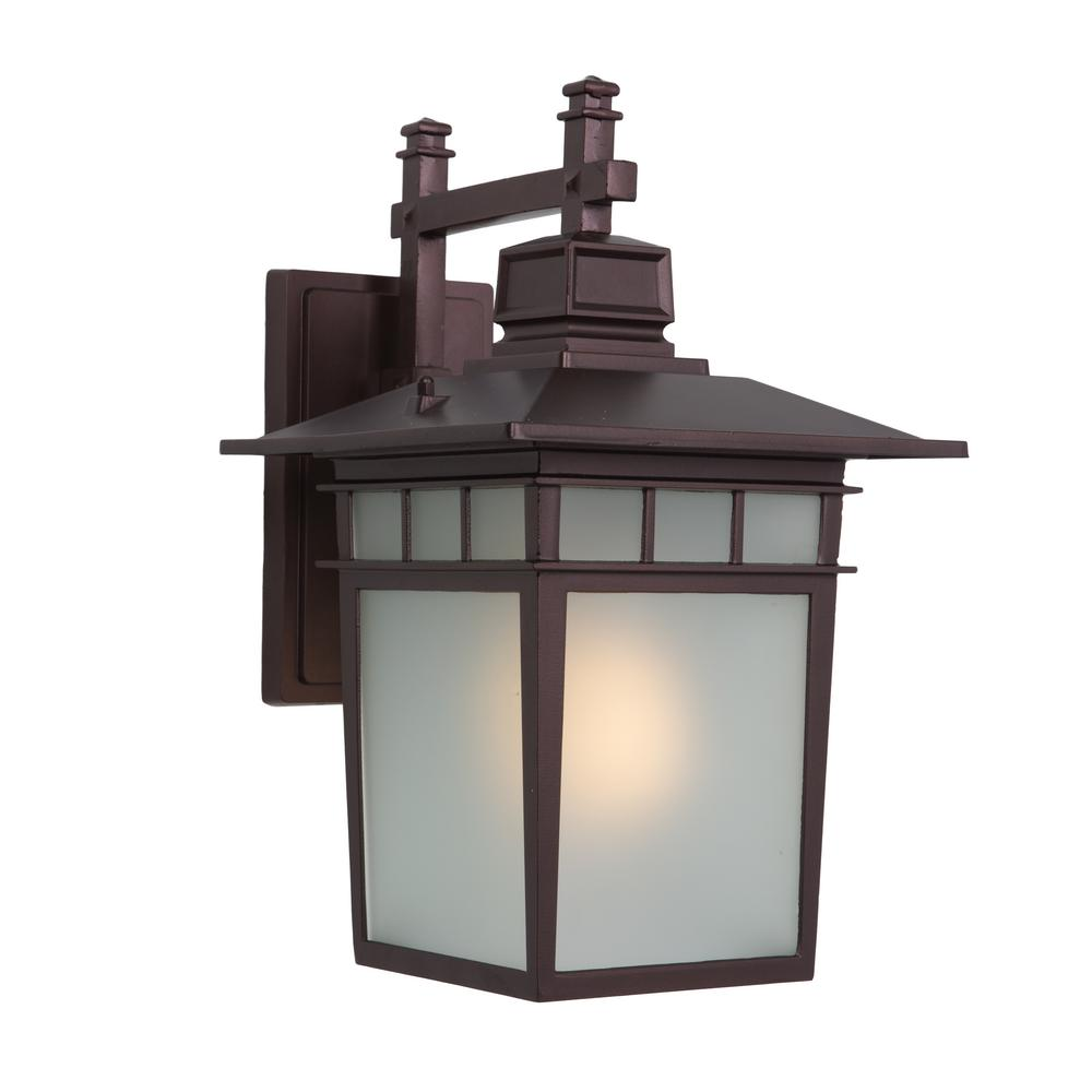 Dante Collection 1-Light Oil Rubbed Bronze Outdoor Wall Lantern Sconce