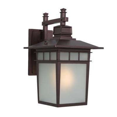 Dante Collection 1-Light Oil Rubbed Bronze Outdoor Wall-Mount Lamp