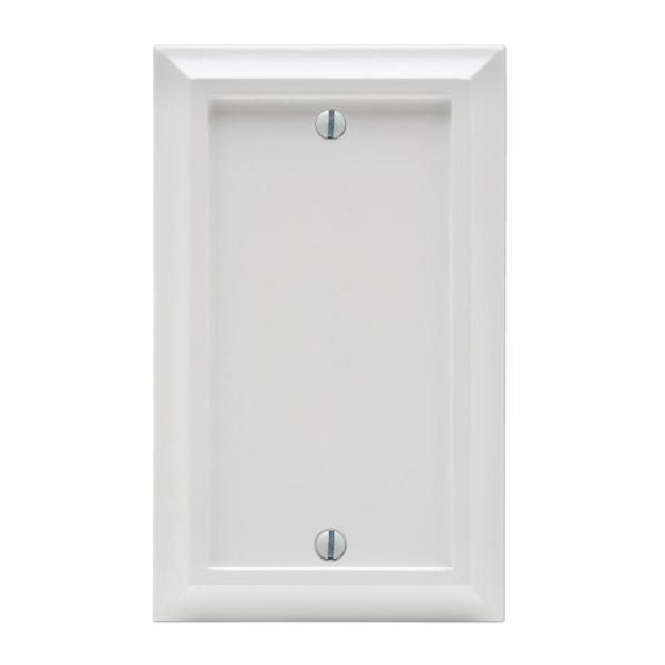 Deerfield 1 Gang Blank Composite Wall Plate - White
