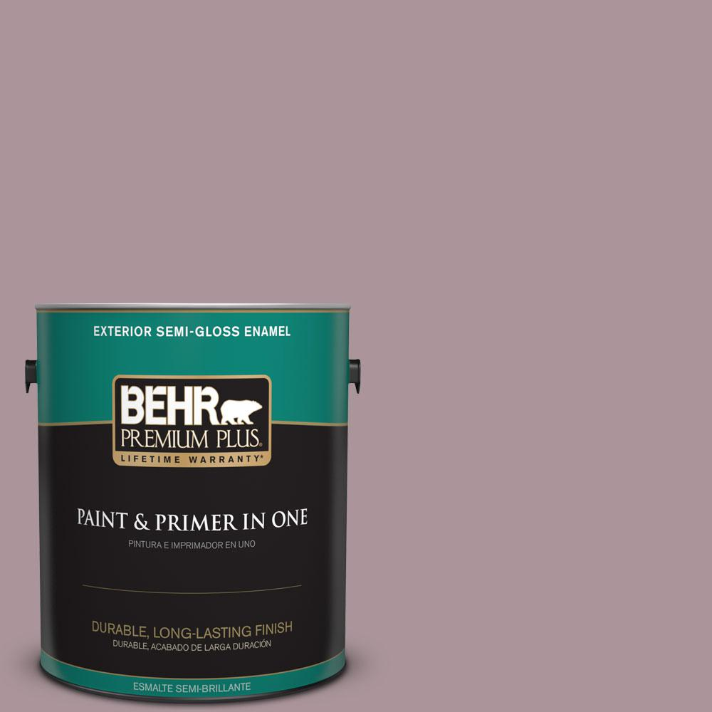 BEHR Premium Plus 1-gal. #ICC-64 Heirloom Quilt Semi-Gloss Enamel Exterior Paint