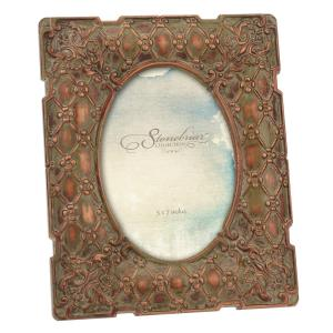 Stonebriar Collection 1-Opening 5 inch x 7 inch Gold Weathered Vintage Inspired Picture... by Stonebriar Collection