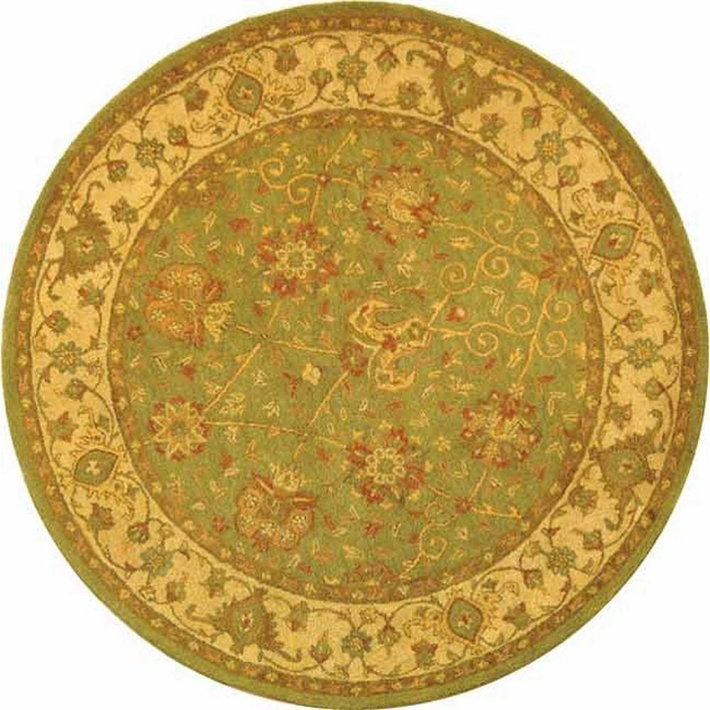Safavieh Antiquity Sage 3 ft. 6 in. x 3 ft. 6 in. Round Area Rug