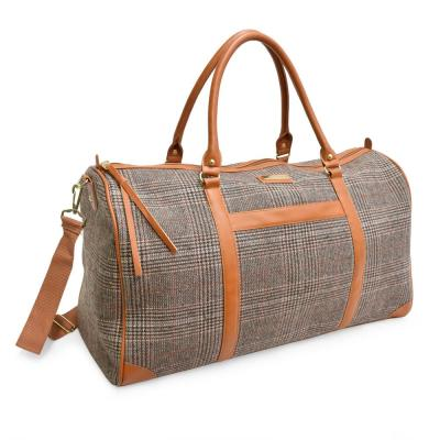 The Wool Weekender Collection 11 in. Brown Lightweight Duffel Bag