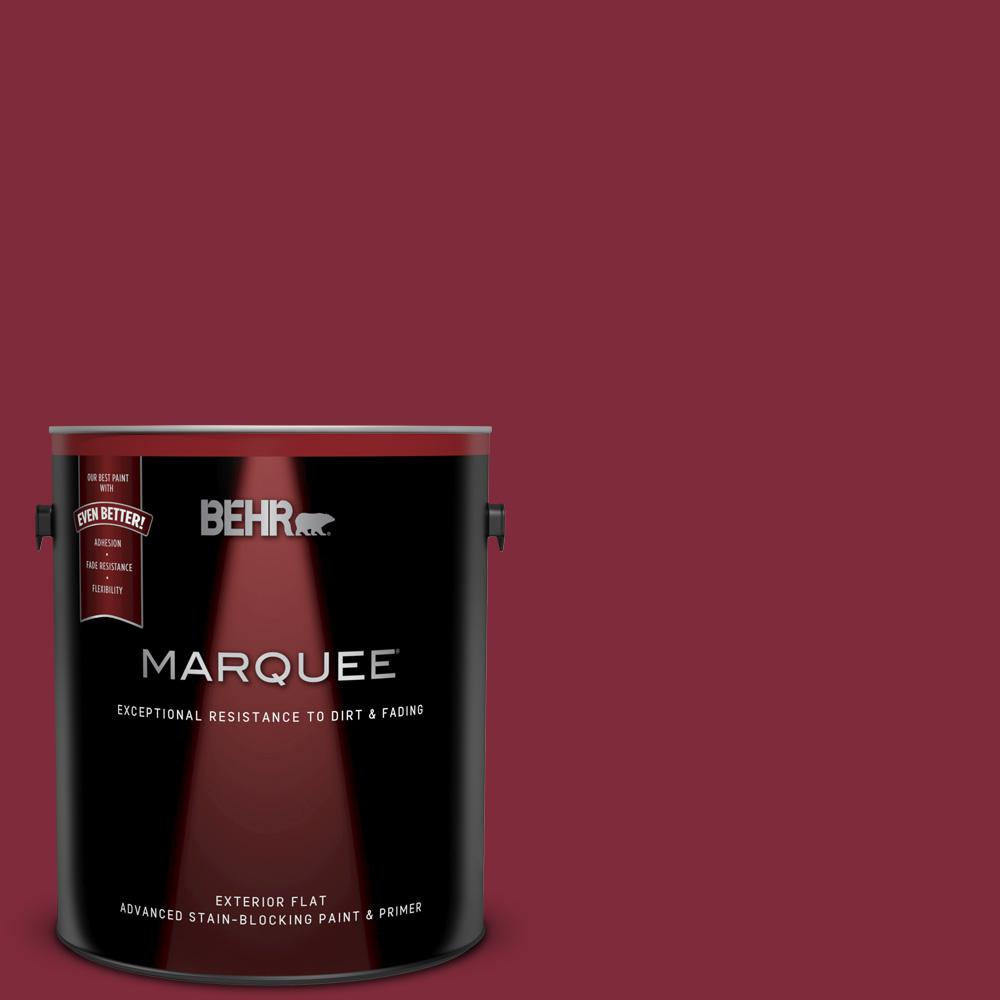 S H 130 Red Wine Flat Exterior Paint And Primer In One