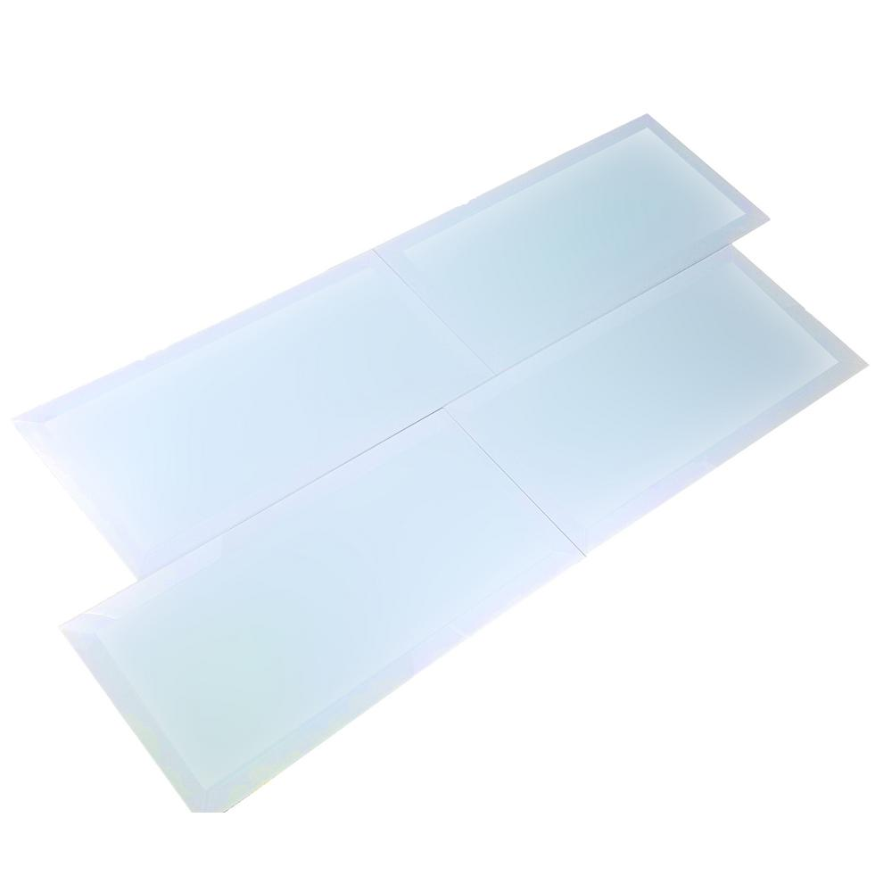 Frosted Elegance Catherine Blue Matte 8 in. x 16 in. Glass