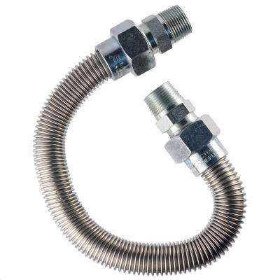 3/4 in. MIP x 3/4 in. MIP x 12 in. Gas Appliance Connector 1 in O.D.
