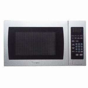 Magic Chef 0 9 Cu Ft Countertop Microwave In Stainless Steel Mcm990st The Home Depot