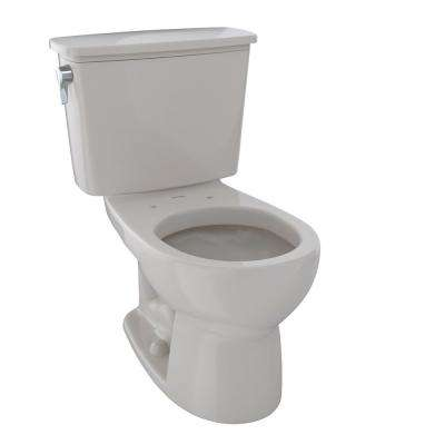Eco Drake Transitional 2-Piece 1.28 GPF Single Flush Round Toilet in Sedona Beige
