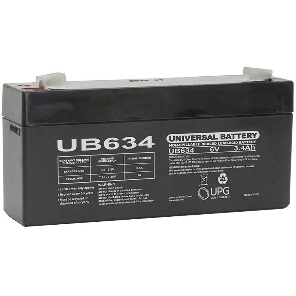 UPG SLA 6-Volt 3.4 Ah F1 Terminal Battery