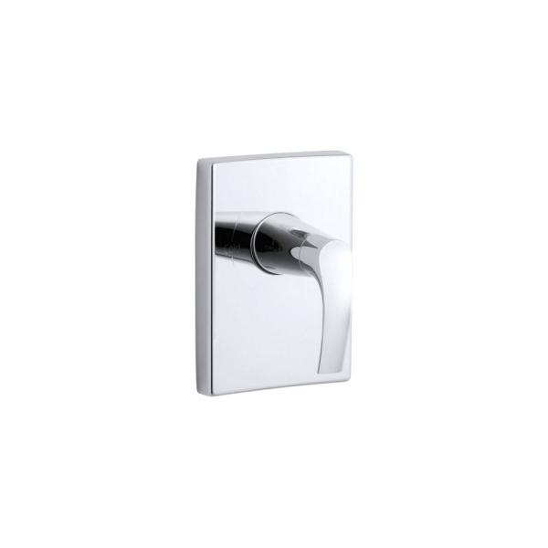 Symbol Rite-Temp 1-Handle Tub and Shower Faucet Trim Kit with Lever Handle in Polished Chrome (Valve Not Included)