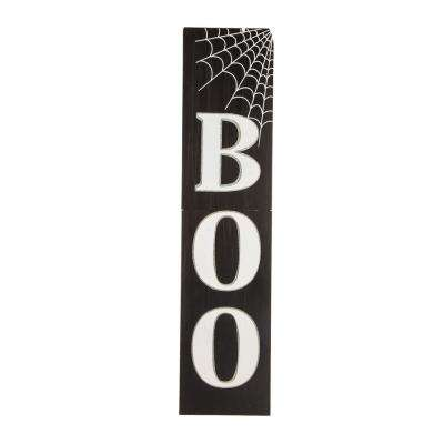 47.83 in. H Wooden BOO Porch Sign (KD)