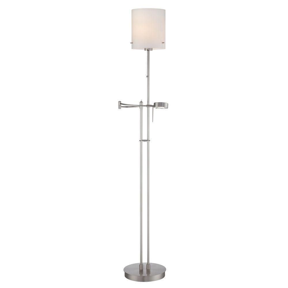 Illumine Designer 50 in. Steel Floor Lamp