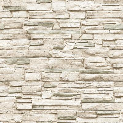 Light Stone Ivory Peel and Stick Wallpaper 56 sq. ft.