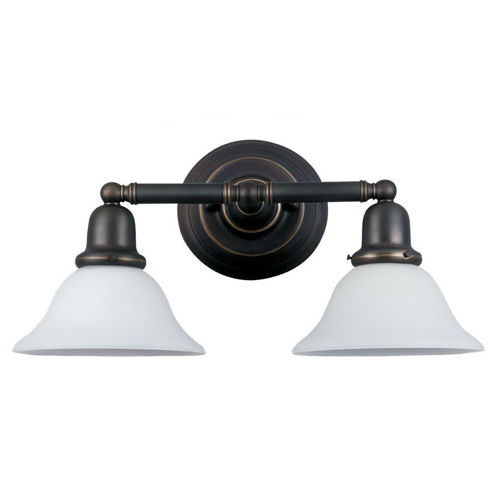 Sussex 2-Light Heirloom Bronze Vanity Fixture