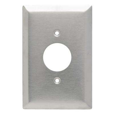 302 Series 1-Gang Jumbo Single Receptacle Outlet Wall Plate in Stainless Steel