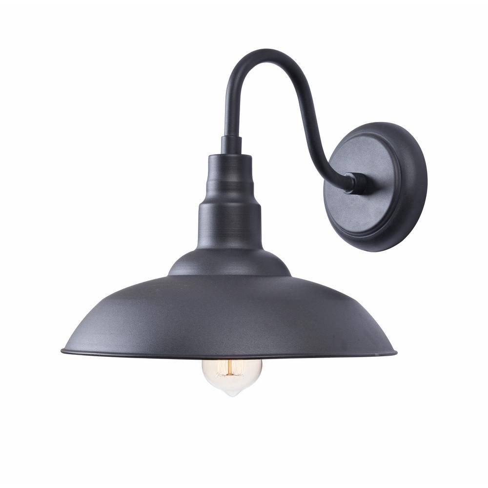 Dale 1-Light Black Large Indoor/Outdoor Wall Mount Lantern