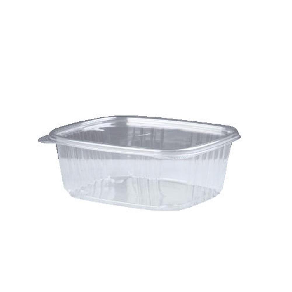 Genpak Plastic Hinged Deli Containers, 16 oz., 5-3/8 x 4-1/2 x 2-5/8, 200 Per Case